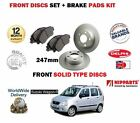 FOR SUZUKI WAGON R 1.3 G13BB 2000-2003 NEW FRONT BRAKE DISCS SET + DISC PAD KIT