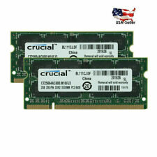 2GB (4GB) For Crucial CT25664AC800 PC2-6400 DDR2-800 SODIMM Laptop Memory RAM US