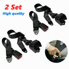 2x Adjustable Belt Kit Retractable 3 Point Safety Seat Belt Straps Car Vehicle