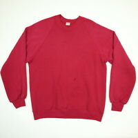 Vtg 80s Russell Raglan Sweatshirt LARGE Nicely Faded Red Grunge Skate USA Made