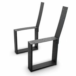 BITUXX Design Bank Kufen Bankgestell Möbelkufen Bankfüße Eckig mit Lehne Stahl