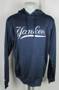 New York Yankees Men's Navy Pullover Embroidered Hoodie MLB Size M, L (Tall) 3X