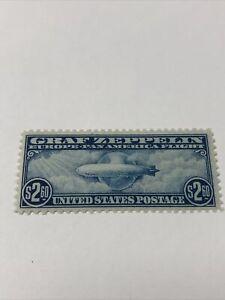 US Air Mail Stamps Scott#C15 $2.60 Graf Zeppelin LH / XF
