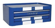 Sealey Mid-Box 2 Drawer Retro Style - Blue with White Stripes AP28102BWS