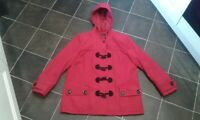 Ladies WARDROBE ESSENTIALS Below Hip Length Duffle Coat , size 14 UK