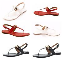 New Coach Caterine Leather Thong Sandal Shoes/ Various Colors/ Size 6-9