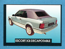 AUTO - Stickline - Figurina-Sticker n. 56 - FORD ESCORT X3i DECAPOTABLE -New