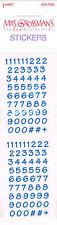 MRS GROSSMANS NUMBERS,BITSY BLUE STICKER STRIP BNIP&NLA