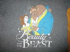 BEAUTY & BEAST T SHIRT Softest Retro Disney Polyester Rayon Belle JUNIORS LARGE