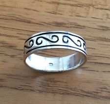 Sterling Silver .925 Solid Men's Scroll Design Ring NEW - Size 12