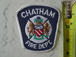 CHATHAM FIRE PATCH VINTAGE ONTARIO ONT CANADA CANADIAN
