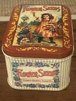 Vintage Flower Seeds Ferry-Morse Seed Co Bristol Ware Burlington New Jersey Tin