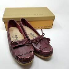 Women's vintage 70s comfort loafer w tassels size 7 Yo-yos Connie wine leather