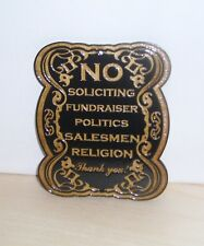 No Soliciting Wood Sign For Door Home Business ,Laser Engraved.Gift.