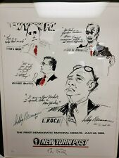 "LeRoy Neiman Hand Signed ""The First Democratic Mayoral Debate"" Art Lithograph"