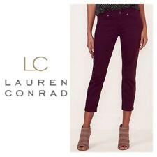 LC Lauren Conrad Skinny Capri Jeans Sz 8 Wine Mid rise NWT