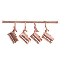 1:12 Puppenhaus Miniatur Kupfer Kessel Tasse Haken Set Küchenzubehör T SLXUI