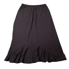 Vintage Weekenders Brand Womens Maxi Skirt Size XL Black Ruffle Hemline Preowned