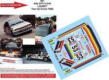 Decals 1/43 ref 561 Alfa Romeo Gtv6 Loubet Rallye Tour de Corse 1982 Rally WRC