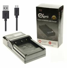Micro USB LCD Battery BCS-5 Charger for Olympus PS-BLS5 PEN E-P3, E-PL2