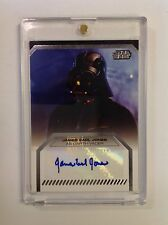 Topps STAR WARS Galactic Files James Earl Jones - Darth Vader AUTOGRAPH CARD