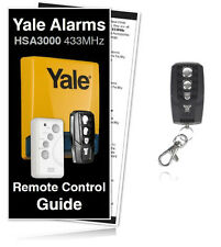 Yale Alarm Remote HSA3000 Premium Compatible Key Fob  / For HSA3000 Yale Alarms