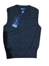 Ralph Lauren Boy's Grey 100% Merino Wool Tank Top Jumper Top For 6 Years BNWT