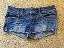 AE American Eagle Shortie Stretch Denim womens jean Shorts size 8