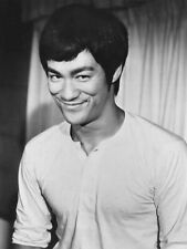 Bruce Lee Martial Arts Film Movie Star 10x8 Black & White Photo Print