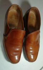 Crockett and Jones Brown/Tan Leather  Men's Leicester Slip On Shoes UK Size 8