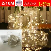 2/10M String Fairy Light 20/100 Micro LED Battery Operated Party Lights Lamp USA