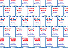 Funny TESCO VALUE HAPPY RETIREMENT Wrapping Paper A1, A2 or A3 - party, joke