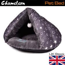 MEDIUM GREY IGLOO CAT BED PET/KITTEN/DOG/PUPPY WARM/SNUG CAVE POD 45 x 34 cm