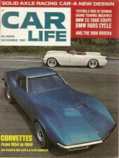 CAR LIFE 1967 NOV - NEW VETTE & HISTORY,CLOVER LEAF,BAJA,RIVIERA,BMW 2000CS