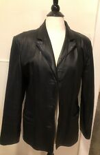 CLIO Black  Leather Jacket  Women's Size Medium Preowned In great cond.