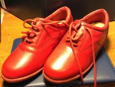 Dr Scholl's Leather Shoes Oxfort Style Confot Women's Color red # 5M