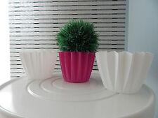 Blumentopf/Pflanzentopf/Pflanzgefäß 3-er Set/Weiss-Pink/Kunstsoff/sehr schön