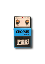 """*BARGAIN* NEW PSK CRS-3 Chorus Guitar Effects Pedal + 3 FREE 6"""" patch cables UK"""