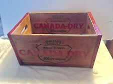 1949 Canada Dry Wooden Advertising Box All 4 Sides Plus Both Inside Panels