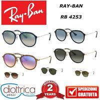 OCCHIALE DA SOLE RAY-BAN RB 4253 50 53 UOMO DONNA RAYBAN SPECCHIATO SFUMATO