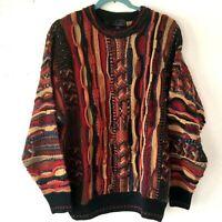 JF J. Ferrar Vintage Coogi Style Cosby Biggie Crew Neck Pullover Sweater Medium