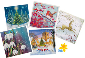 (RO) Charity Christmas Cards - Marie Curie - Assorted pack of 50 - 5 designs