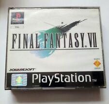 Final Fantasy VII 7 - Box + Original Inlays Only - PlayStation 1 - Black Label