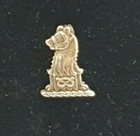 Vintage Hallmarked Silver equestrian Cartoon Pony Head Miniature Brooch By F.T