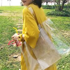 Women PVC Transparent Totes Handbags Clear Shoulder Shopping Beach Bags