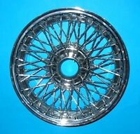 "MG SET OF 4  MGB CHROME WIRE WHEELS 14"" X 4.5"" 60 SPOKE INCLUDES DELIVERY"