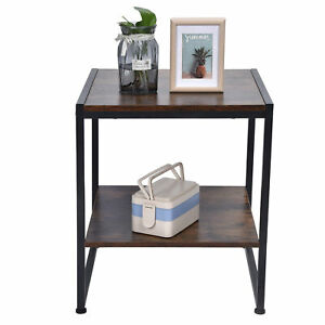 2 Layer Coffee Desk Multifunctional Tea Table Sofa Table For Home Departments
