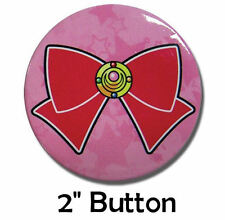 """Sailor Moon Red Bow Brooch Medium 2"""" Official Licensed Pin Pinback Button Badge"""