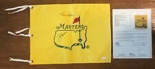 JACK NICKLAUS & TOM WATSON SIGNED UNDATED MASTERS GOLF FLAG AUTOGRAPH JSA COA