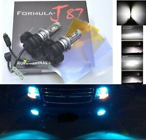 LED Kit X3 50W H7 8000K Icy Blue Two Bulbs Light Turn Cornering Replace Upgrade